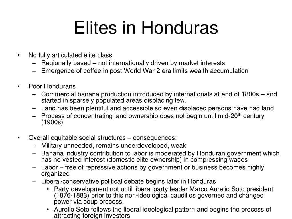 Elites in Honduras