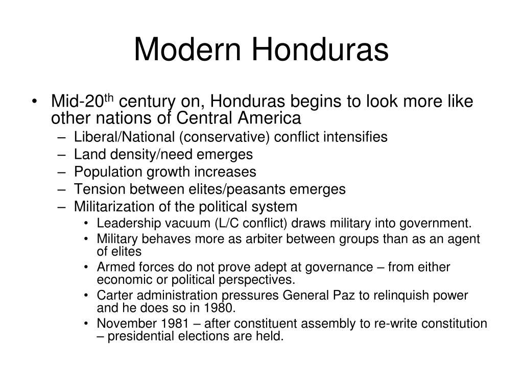 Modern Honduras