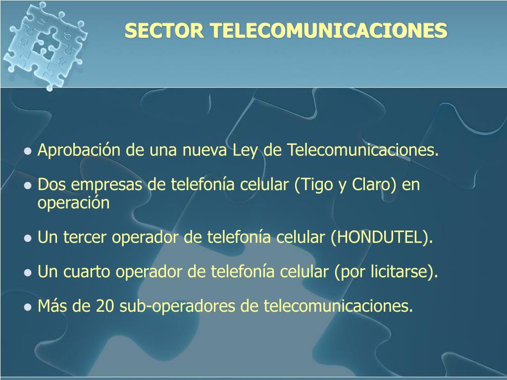 SECTOR TELECOMUNICACIONES