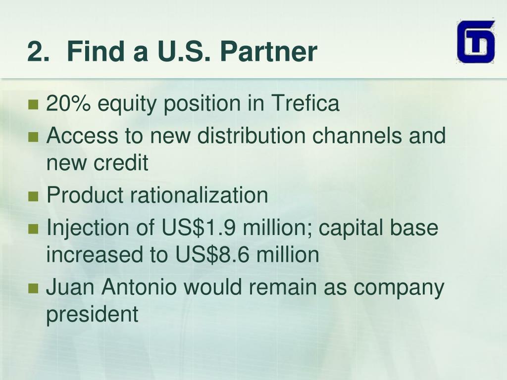 2.  Find a U.S. Partner