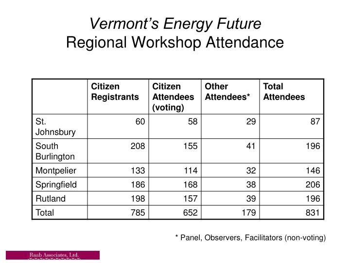 Vermont's Energy Future