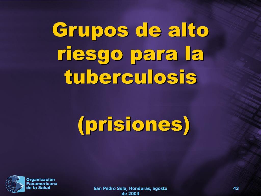 Grupos de alto riesgo para la tuberculosis
