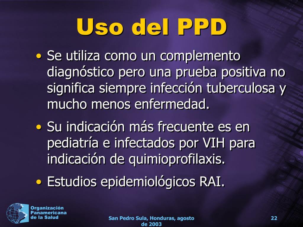 Uso del PPD