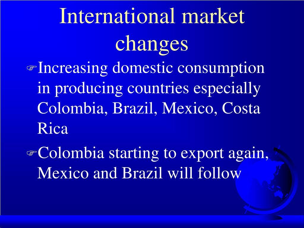 International market changes