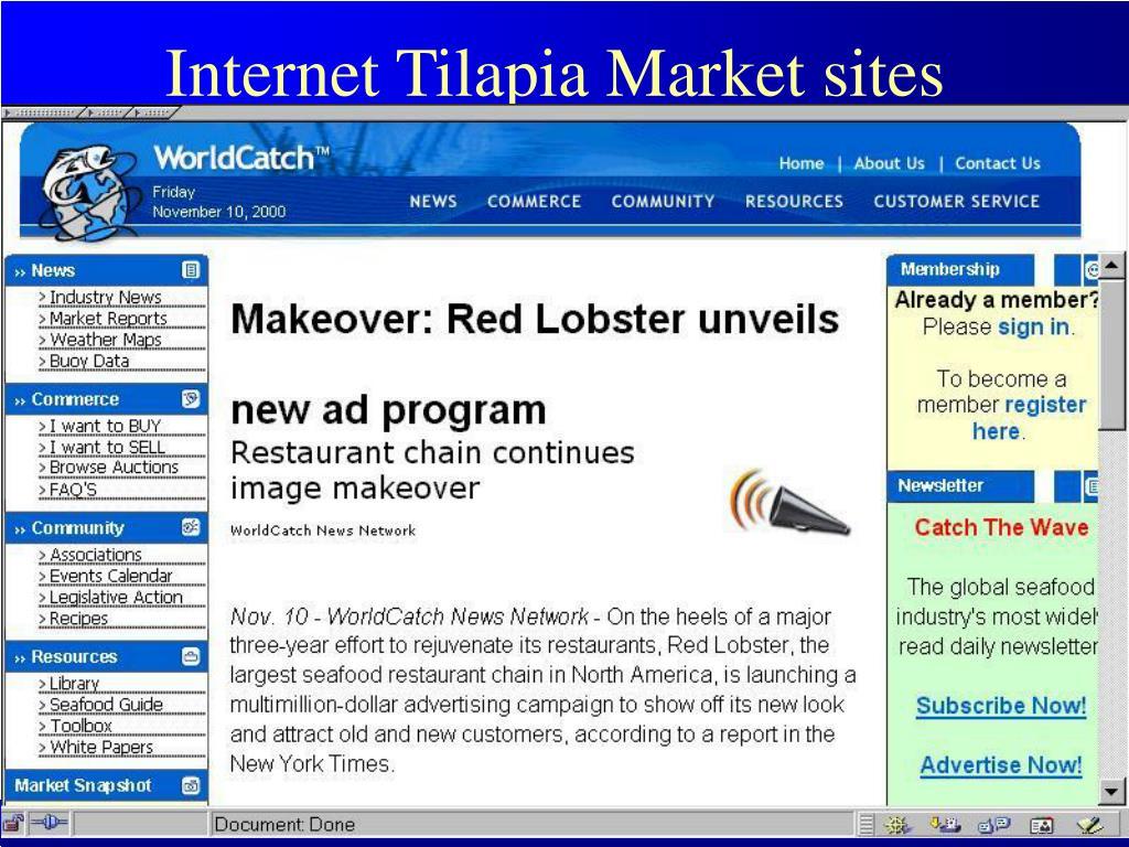 Internet Tilapia Market sites