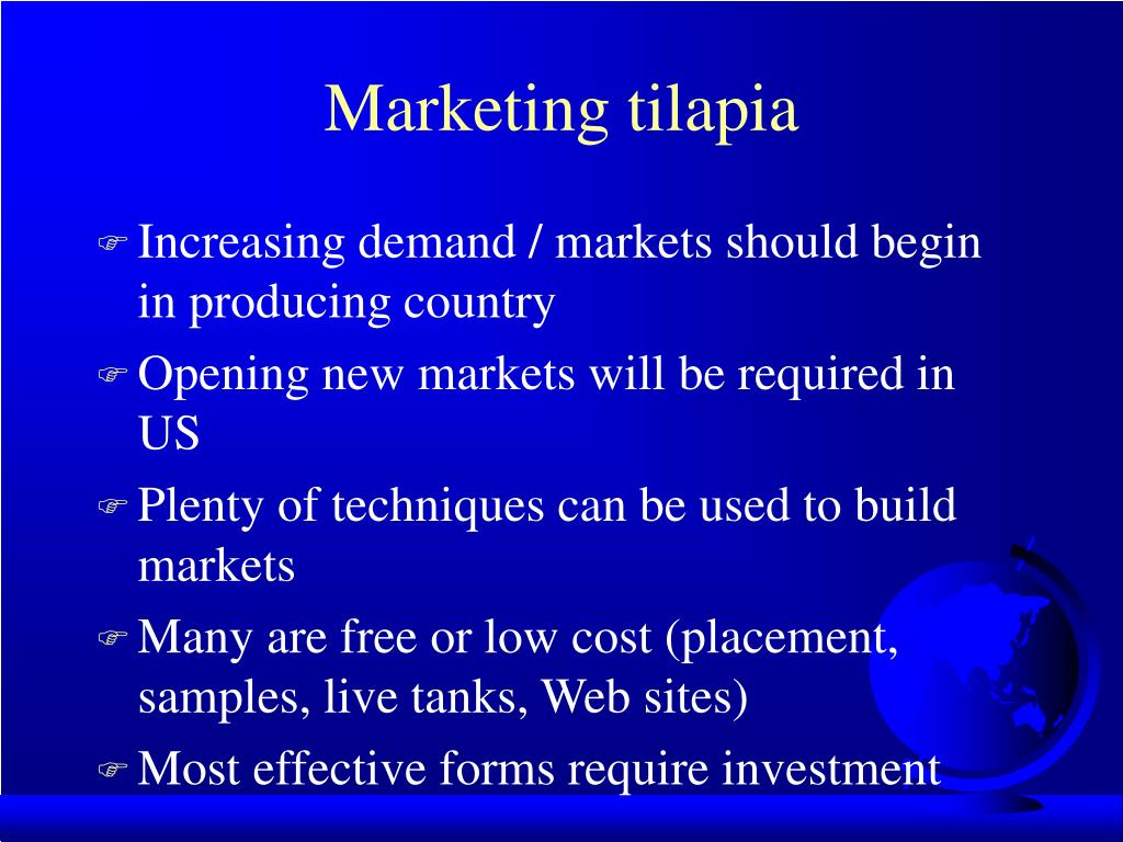 Marketing tilapia