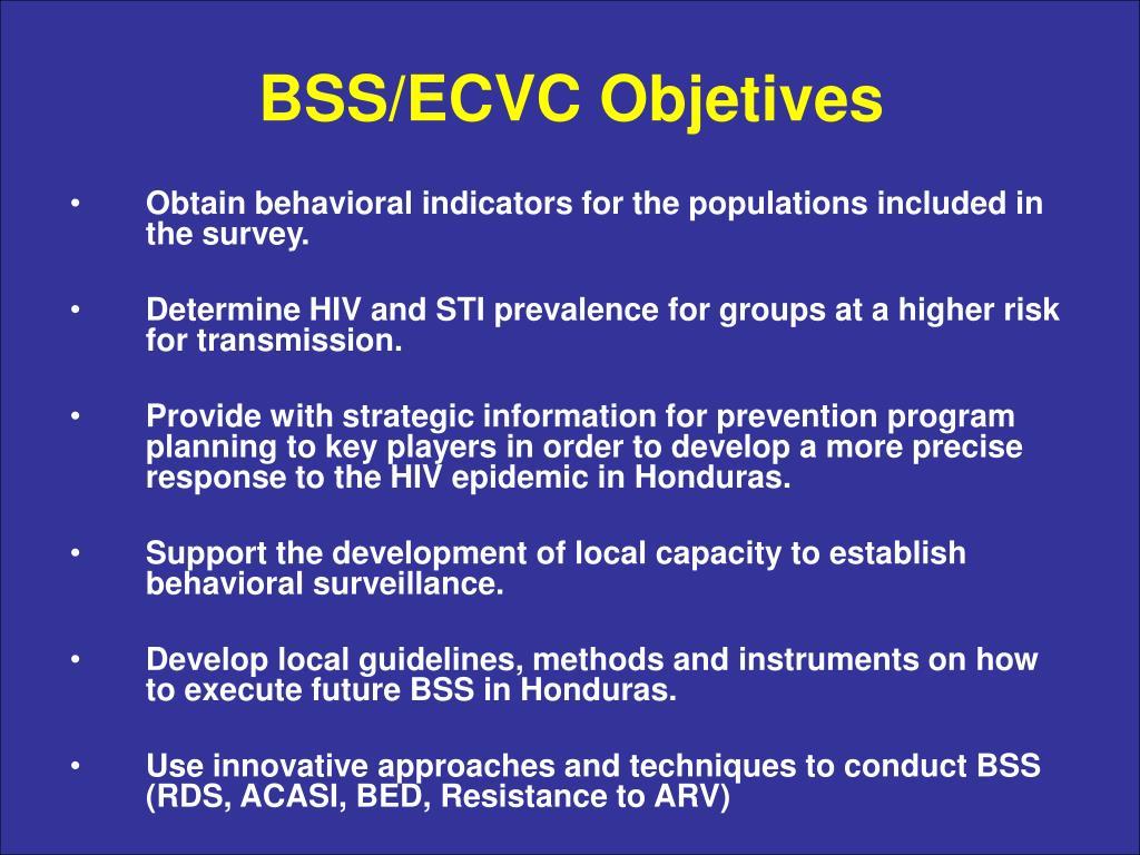 BSS/ECVC Objetives