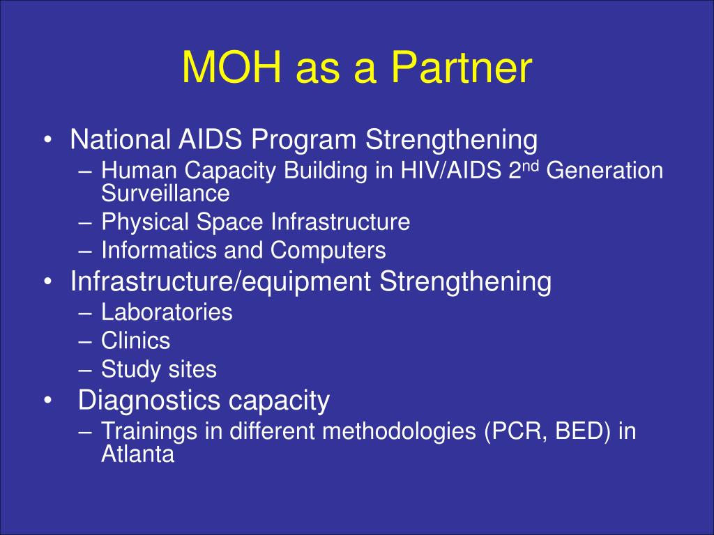 MOH as a Partner