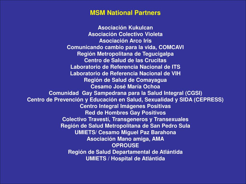 MSM National Partners