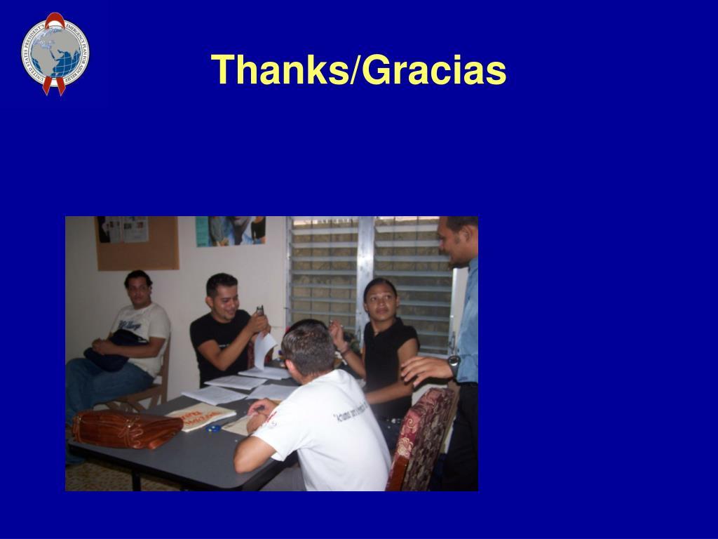 Thanks/Gracias