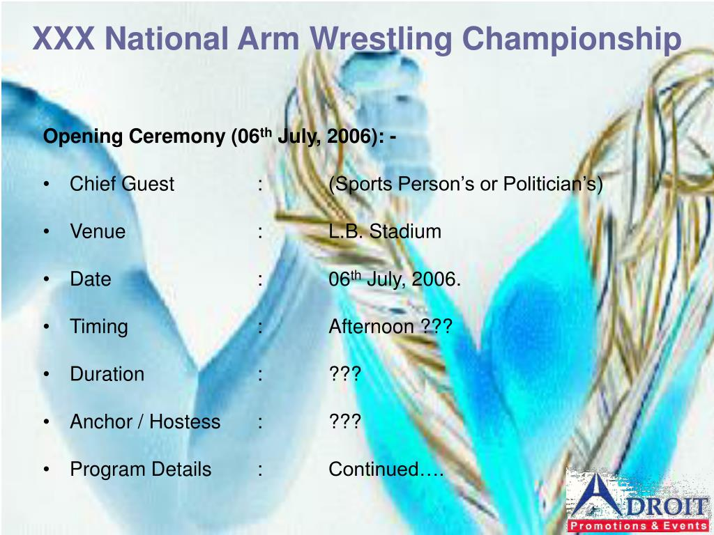 XXX National Arm Wrestling Championship