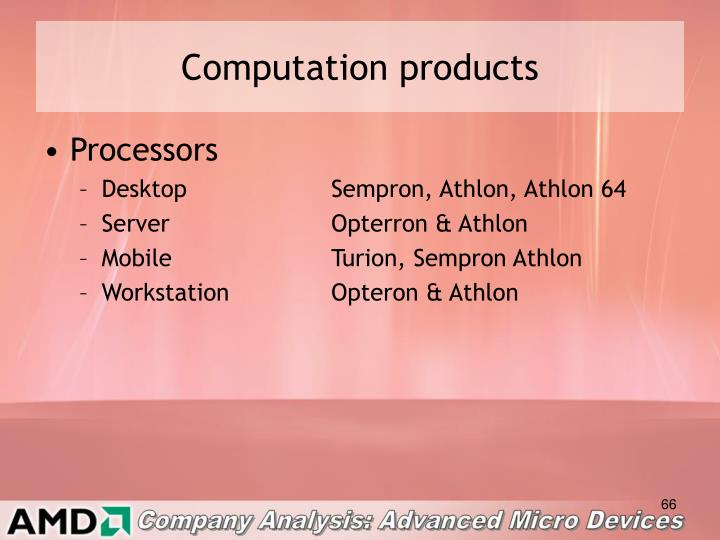 Computation products
