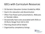 gecs with curriculum resources