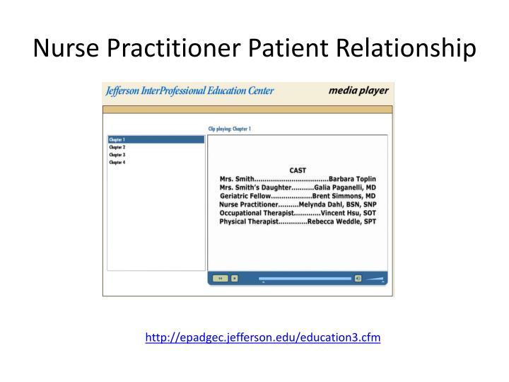 Nurse Practitioner Patient Relationship