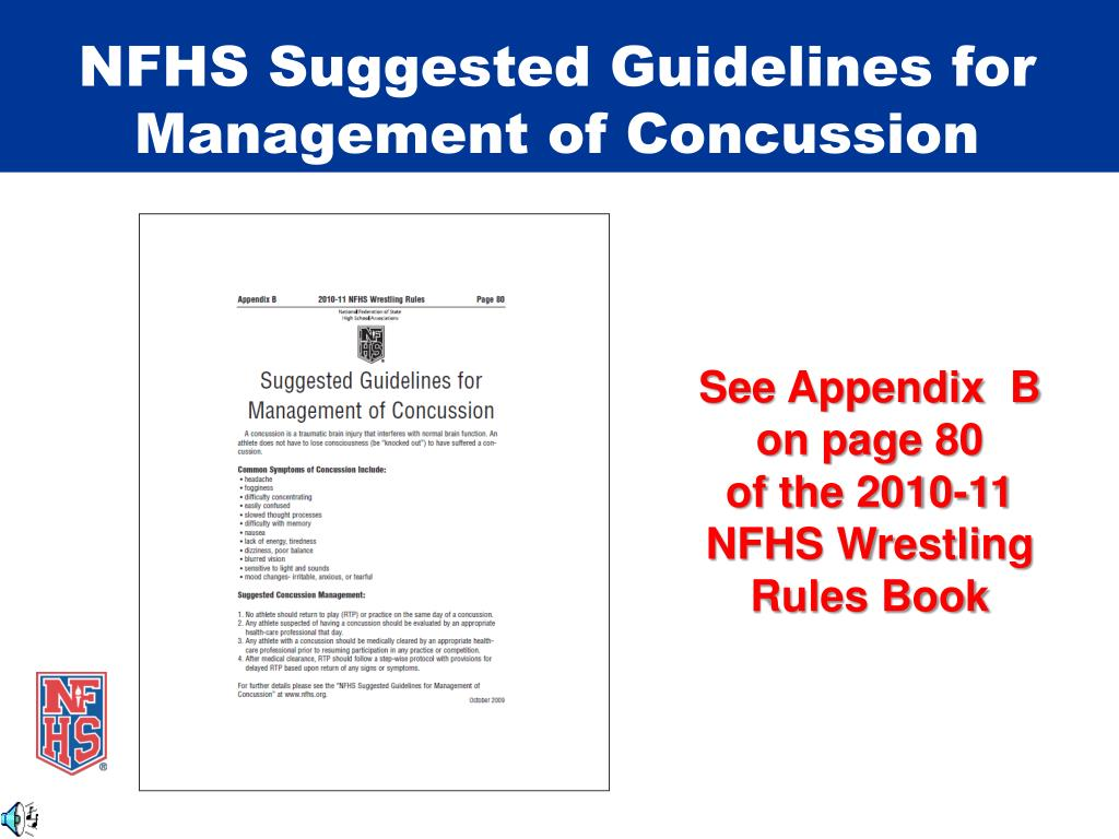 NFHS Suggested Guidelines for