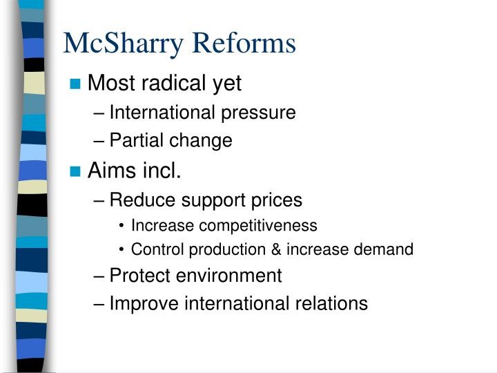 McSharry Reforms