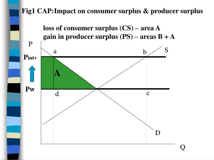 Fig1 CAP:Impact on consumer surplus & producer surplus