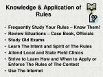 knowledge application of rules