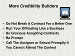 more credibility builders