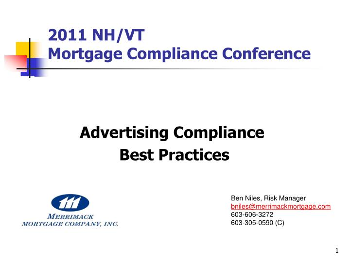 2011 nh vt mortgage compliance conference