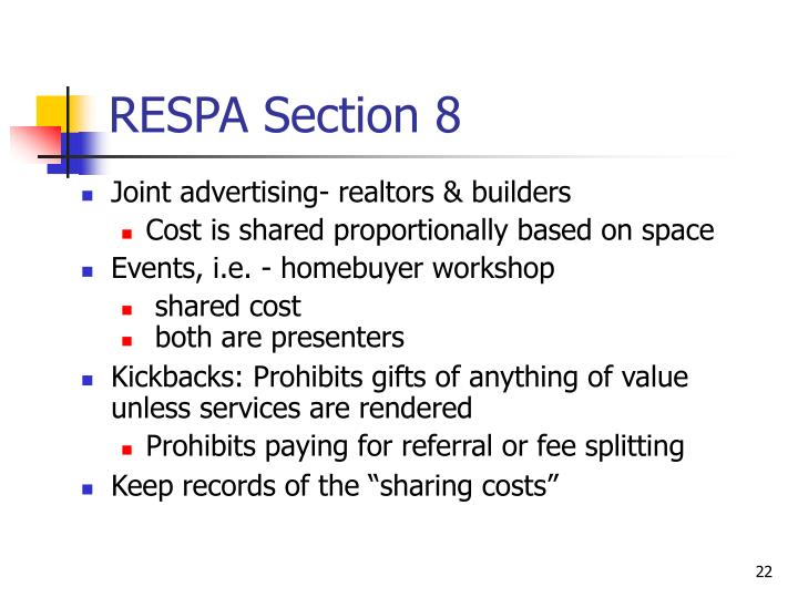 RESPA Section 8