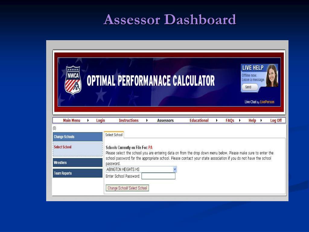 Assessor Dashboard