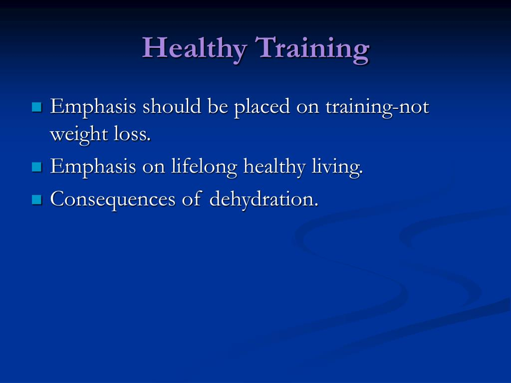 Healthy Training