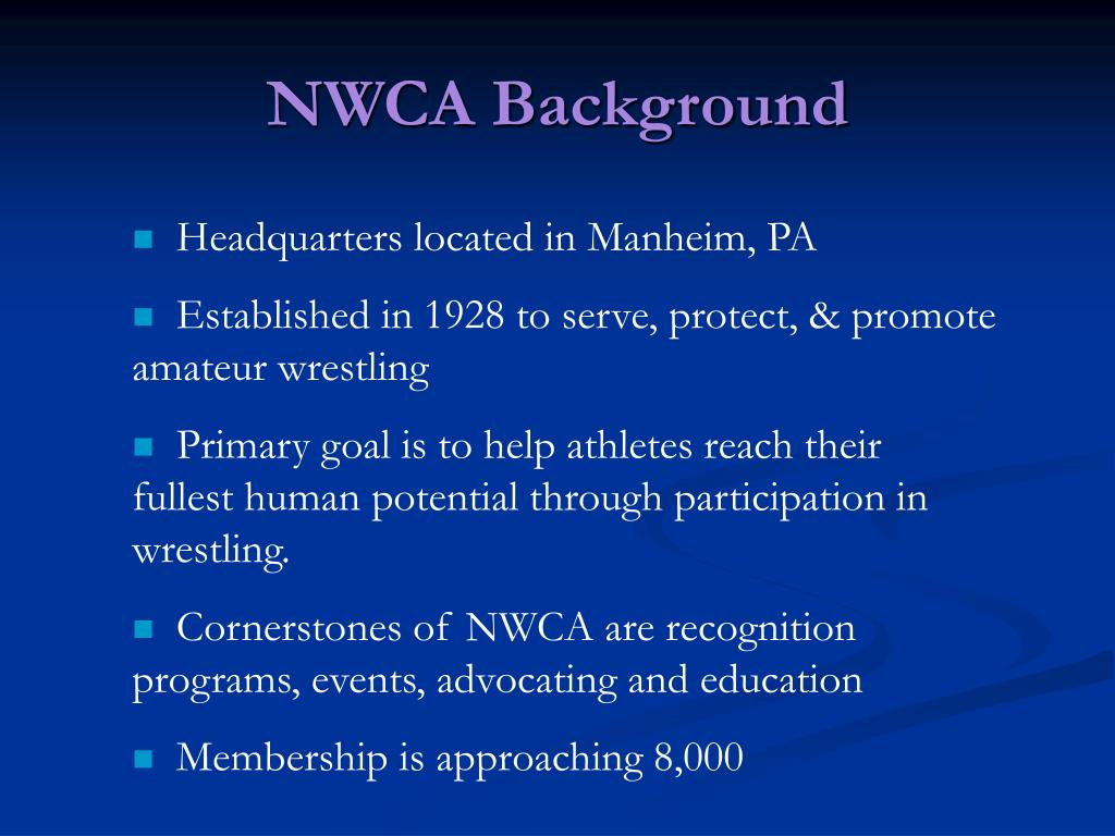 NWCA Background