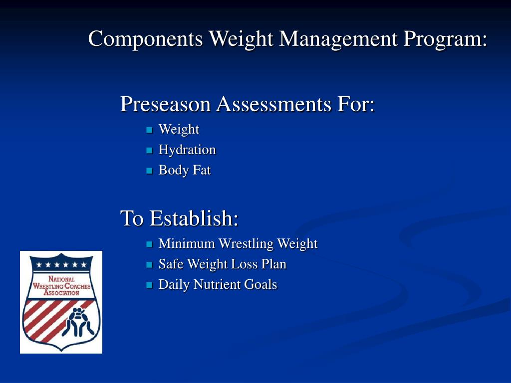 Components Weight Management Program: