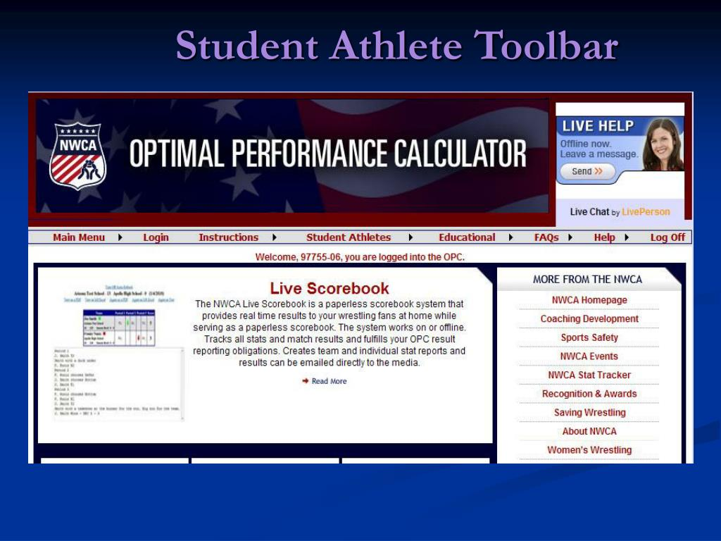 Student Athlete Toolbar