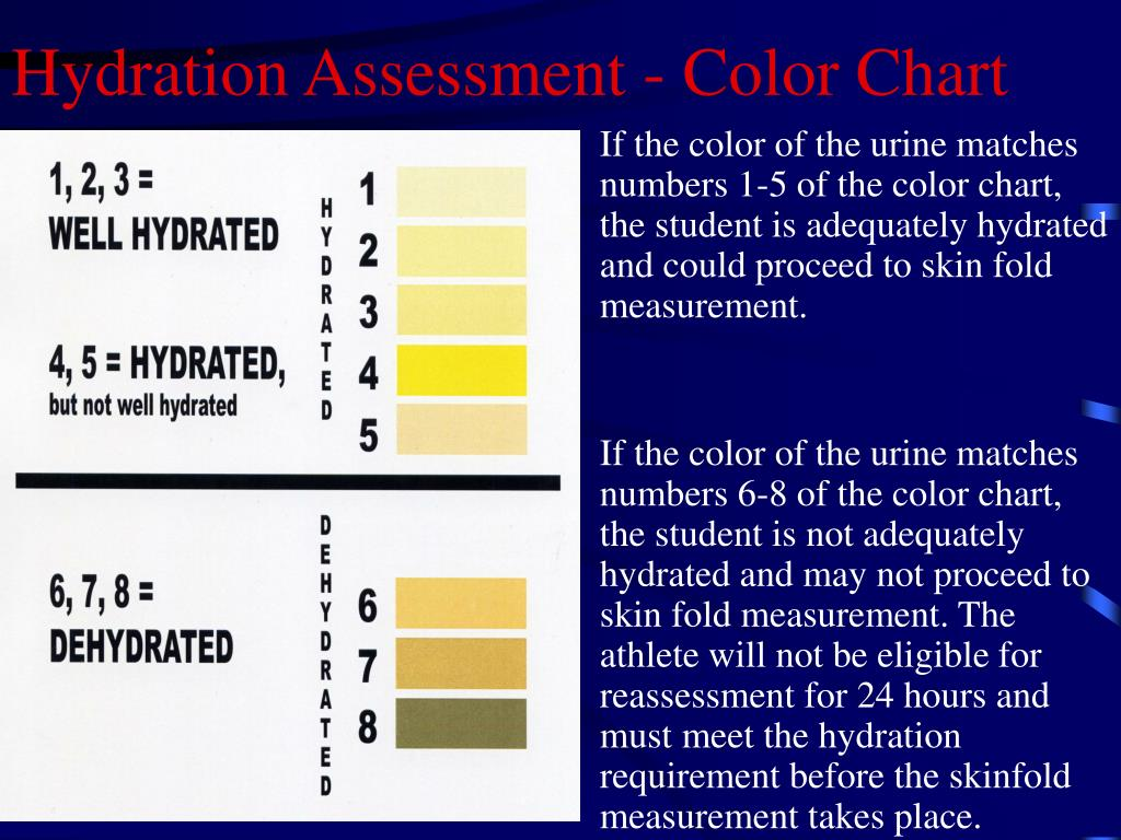 Hydration Assessment - Color Chart