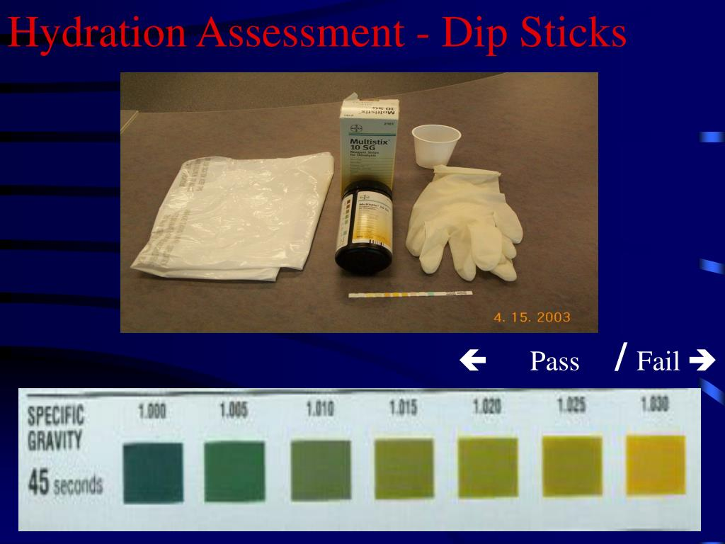 Hydration Assessment - Dip Sticks