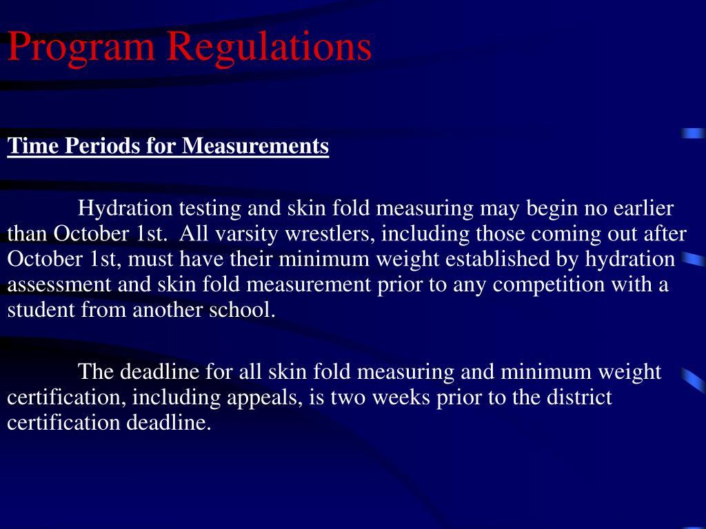 Program Regulations