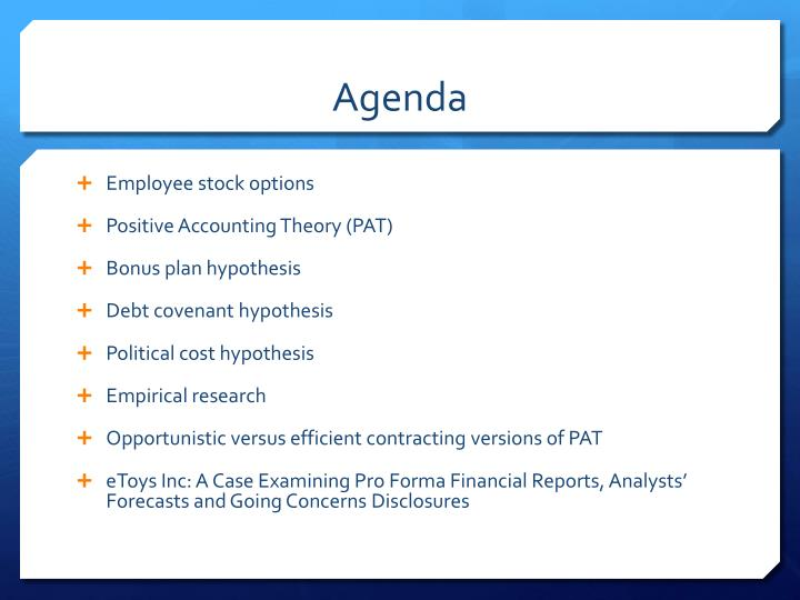 Accounting for employee stock options theoretical arguments