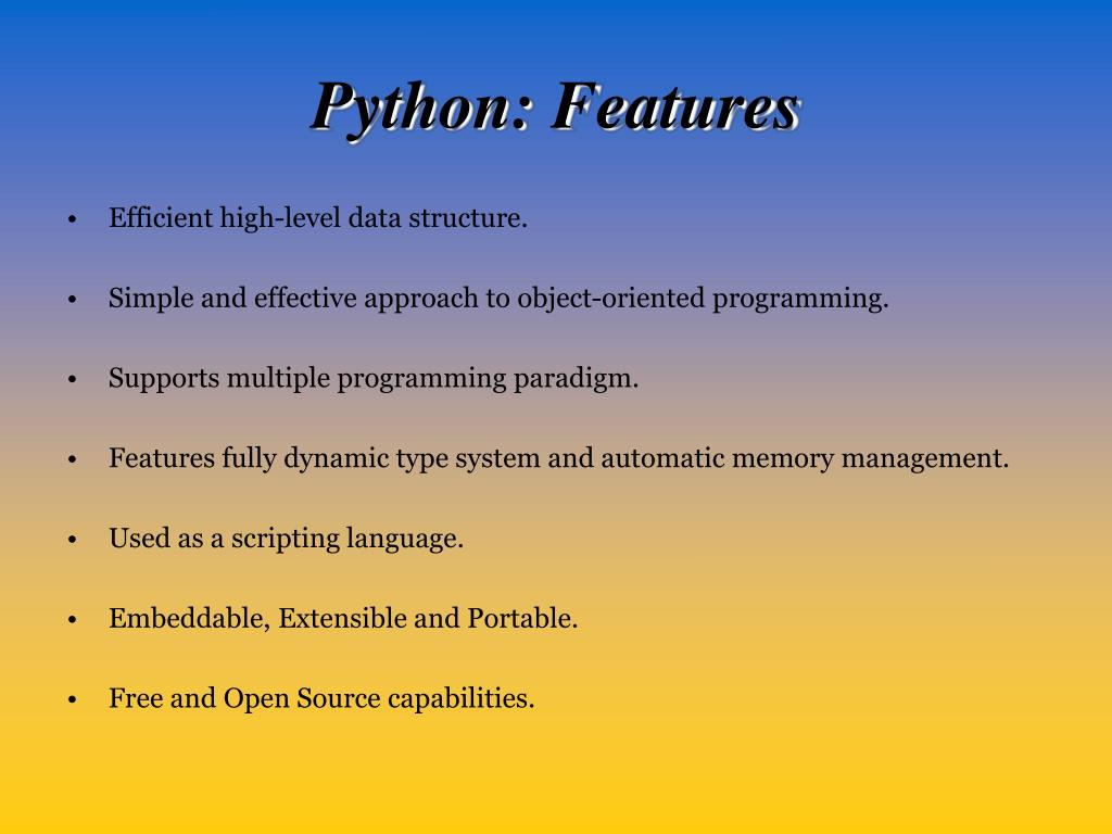 Python: Features