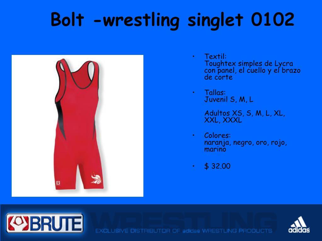 Bolt -wrestling singlet 0102