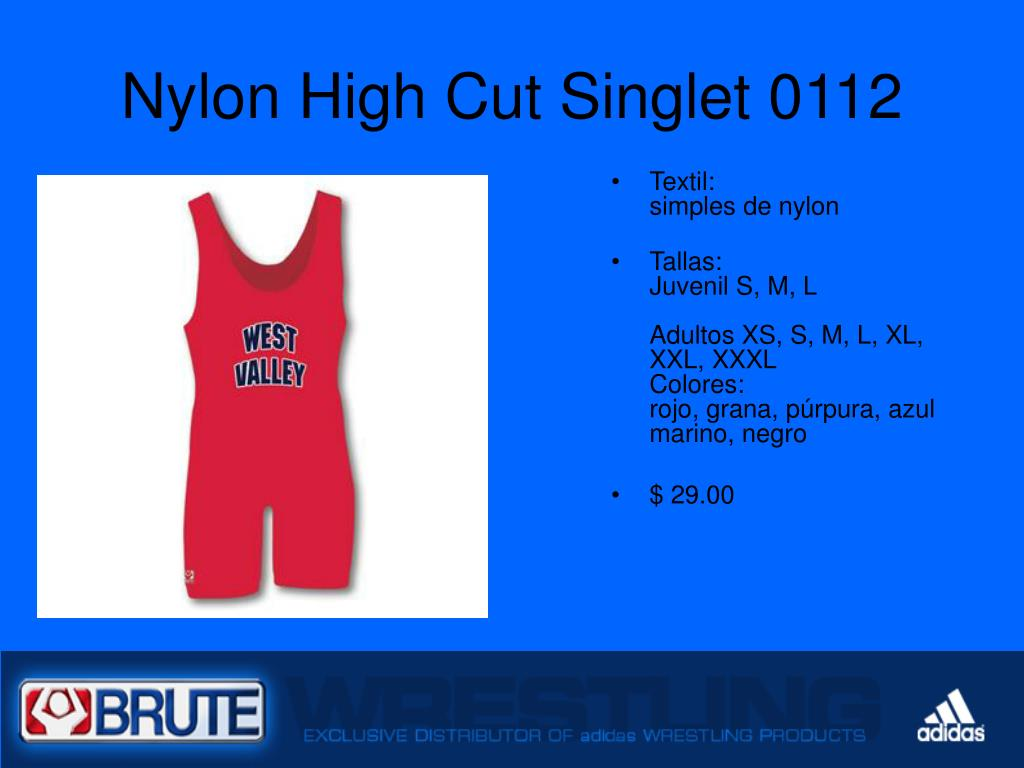 Nylon High Cut Singlet 0112
