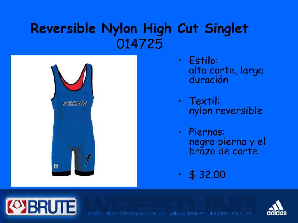 Reversible Nylon High Cut Singlet