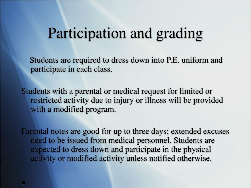 Participation and grading