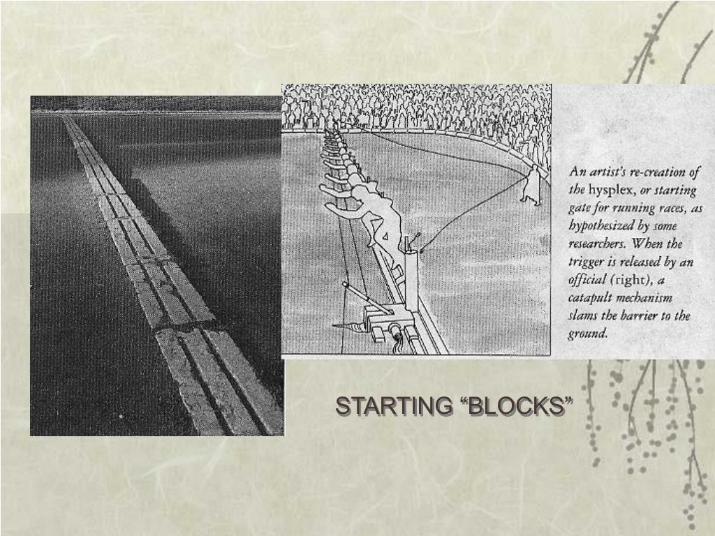 "STARTING ""BLOCKS"""