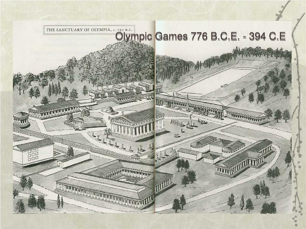 Olympic Games 776 B.C.E. - 394 C.E