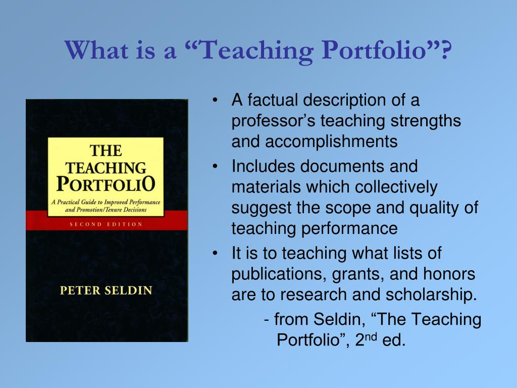 "What is a ""Teaching Portfolio""?"