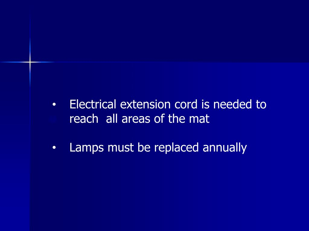 Electrical extension cord is needed to