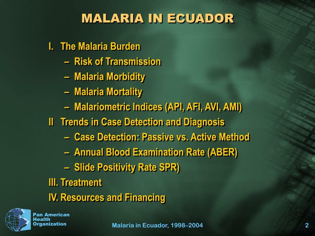 MALARIA IN ECUADOR