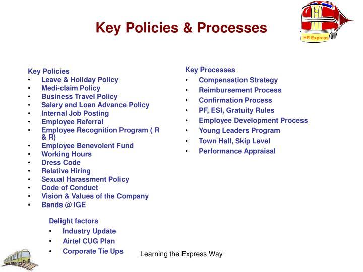 Key Policies & Processes
