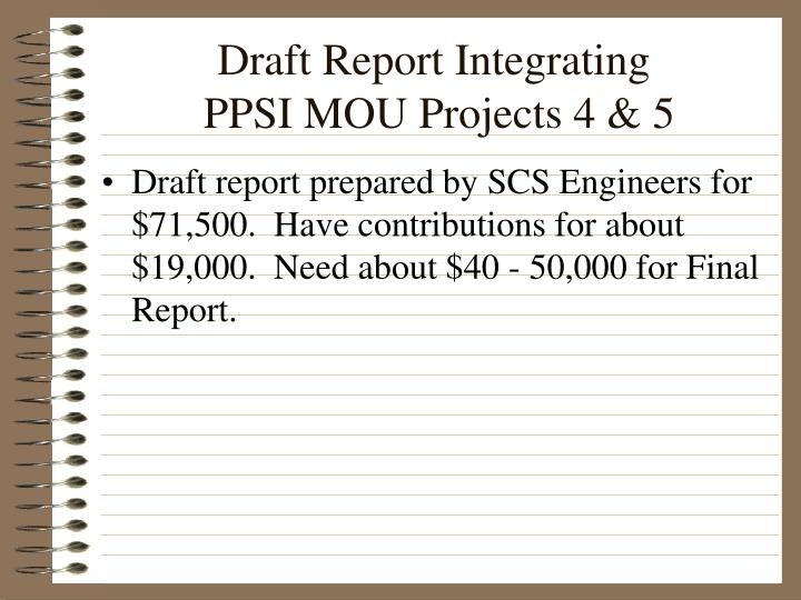 Draft Report Integrating