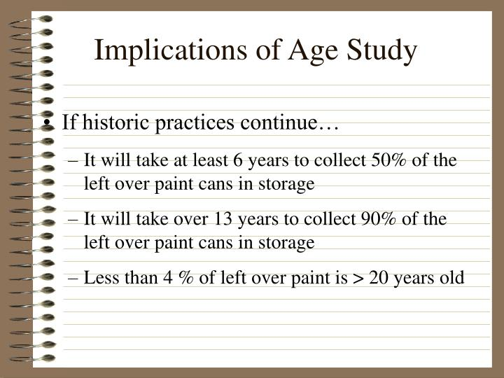 Implications of Age Study