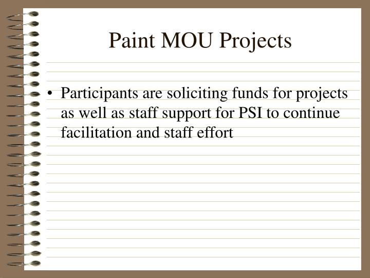 Paint MOU Projects