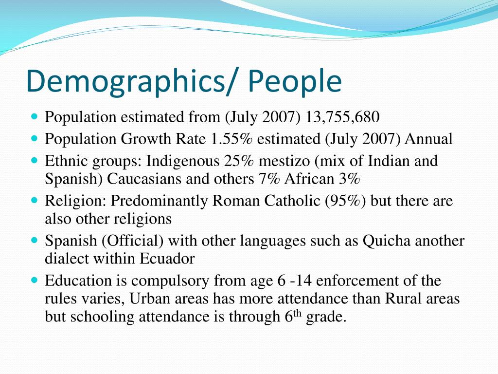 Demographics/ People