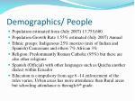 demographics people